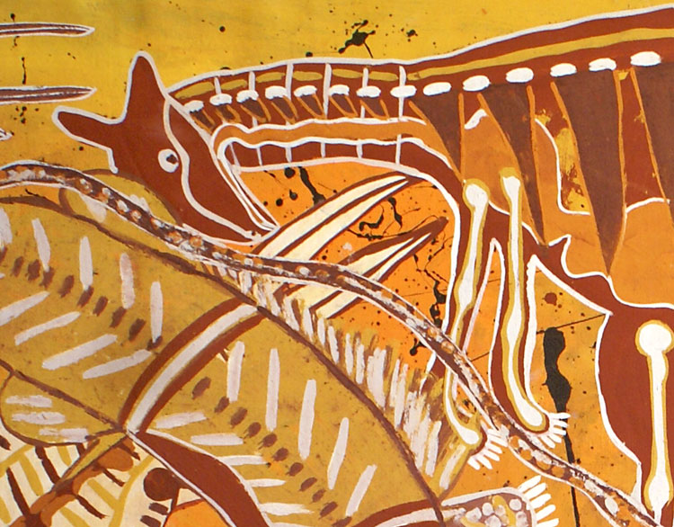 Aboriginal art-close-up
