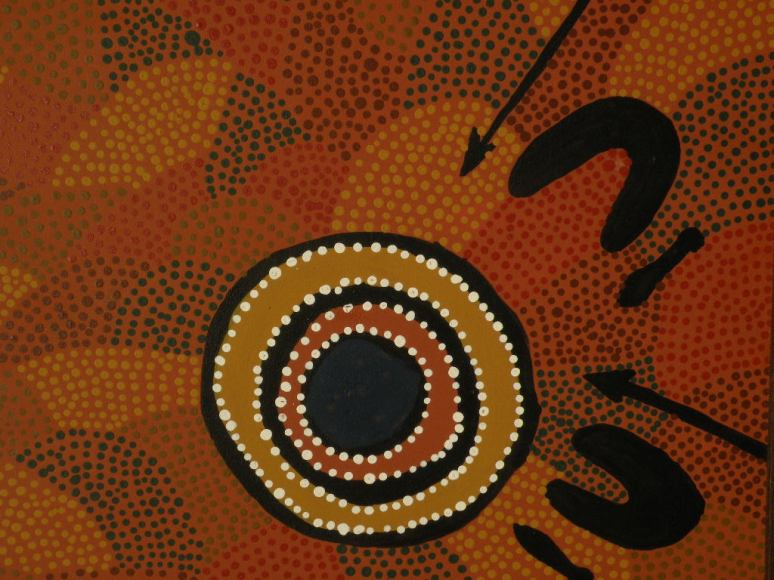 Traditional tribal dot painting-